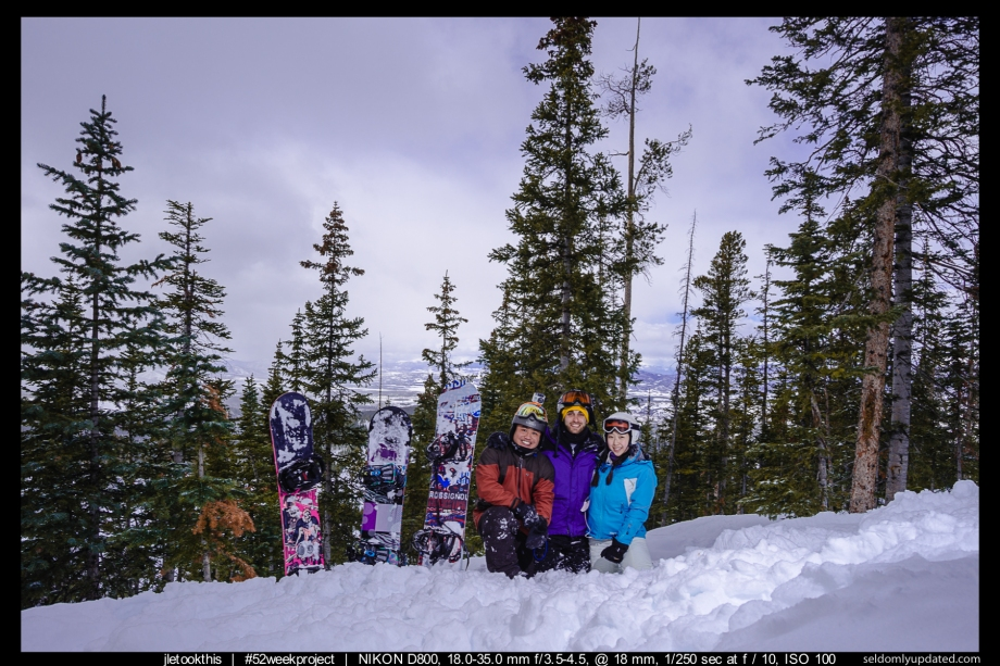 #52weekproject: Week 6 - Snowboarding in Winter Park