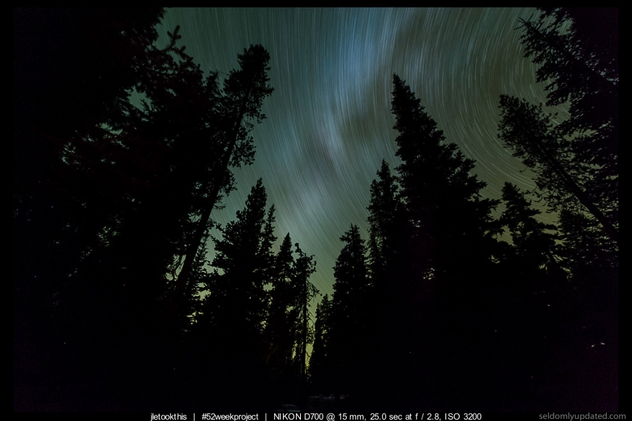 Mazama Village Startrails stacked