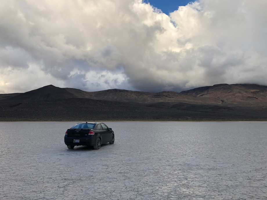 My car and the steens mountain